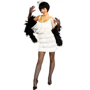 1920s White Flapper Costume - Broadway Babe