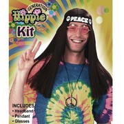 Hippie Kit - Peace Necklace, Peace Headband & Glasses