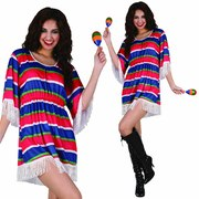 Mexican Girl Poncho Costume - Adult