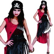 Evil Pirate Woman Costume - Adult