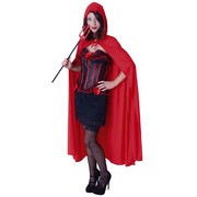 Long Red Riding Hood Cape - Adult