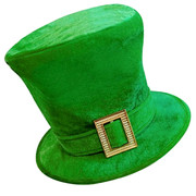 St Patricks Day Hat with Buckle - Green