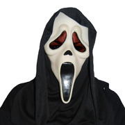 Scream (Ghost Face) Mask with Shroud