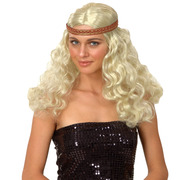 Bohemian Hippie Wig - Blonde Curly
