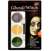 Mehron Tri-Colour Make-up Palette - Ghoul/Witch
