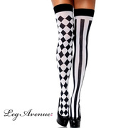 Stockings - Thigh High Harlequin - Adults