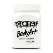 Global Body Art 200ml Jar Facepaint - White