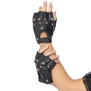Punk Gloves with Studs (1 Pair)