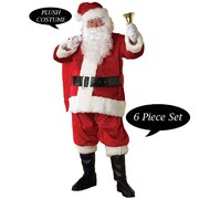 Santa Suit Regency Plush 6 Piece - Size Standard