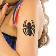 Spider Girl Glitter Tattoo