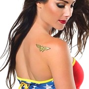 Wonder Woman Glitter Tattoo Sticker
