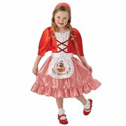 Little Red Riding Hood Wolf Print Apron - Girls