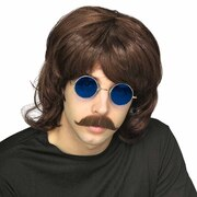 70's Brown Shag Wig - Adult