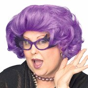 The Dame Purple Wig (Dame Edna)