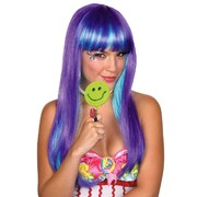 Candy Babe Purple & Aqua Wig
