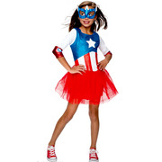 Captain America Girls Metallic - Small