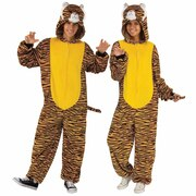 Tiger Hooded Jumpsuit Costume - Adult