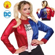 Harley Quinn Jacket with Shirt Costume - Adult