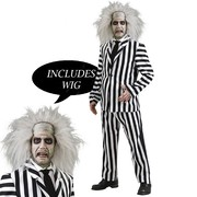 Beetlejuice Costume Deluxe with Wig - Adult