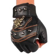 Steampunk Gloves with Studs & Crossbone