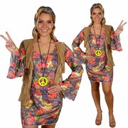 Woodstock Hippie Lady Costume - Adult
