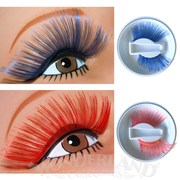 Long Sweep False Eyelashes - Red or Blue