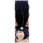 20s Sequin Headband - Black