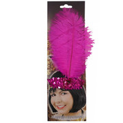 20s Sequin Headband - Pink
