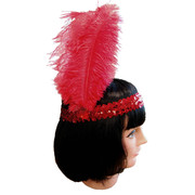 20s Sequin Headband - Red