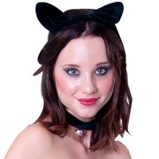 Cat Ear Headband & Collar Set