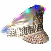 Festival Hat - Silver/White (Light Up) - Seconds
