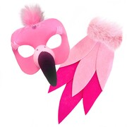 Deluxe Animal Mask & Tail Set - Flamingo