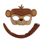 Deluxe Animal Mask & Tail Set - Monkey