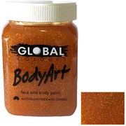 Global Body Art 200ml Jar - Gold Glitter Gel