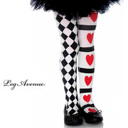 Harlequin & Hearts Tights - Child