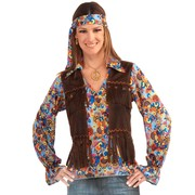 Hippie Shirt, Vest & Headband - Female