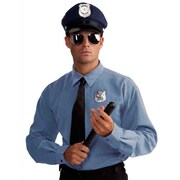 Police Officer Hat, Glasses, Badge and Baton Kit