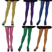 Ladies Striped Opaque Tights
