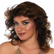 Farrah Feathered Wig - Brunette