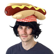 Plush Hot Dog Hat