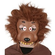 Werewolf EVA Face Mask with Plush Hair