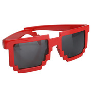 Pixelated Sunglasses Red