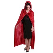 Red Velvet Cape with Hood