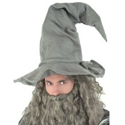 Grey Wired Wizard Hat