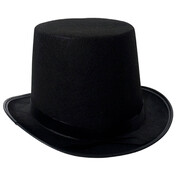 Lincoln Top Hat - Black Feltex (Economy)