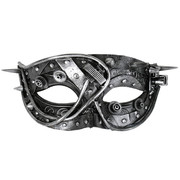 Steampunk Silver Eye Mask - Mortimer