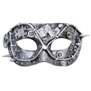 Leonard Steampunk Silver Eye Mask