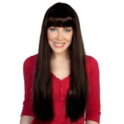 Jessica Long Brown Wig with Fringe