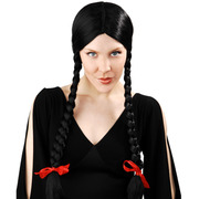 Black Plaits Wig - Wednesday