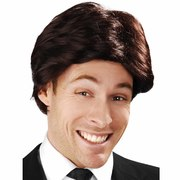 Anchorman Swept Fringe Brown Wig